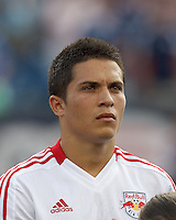 In a Major League Soccer (MLS) match, New England Revolution defeated New York Red Bulls, 2-0, at Gillette Stadium on July 8, 2012.