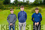 Jayden Chute, Listowel, Cathal Kelly Killarney and Trevor Chute Listowel playing in the Kerry U16 Pitch and Putt Strokeplay Championships in Deerpark on Saturday