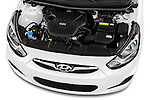 Car Stock 2016 Hyundai Accent SE 6-Speed Automatic 5 Door Hatchback Engine  high angle detail view