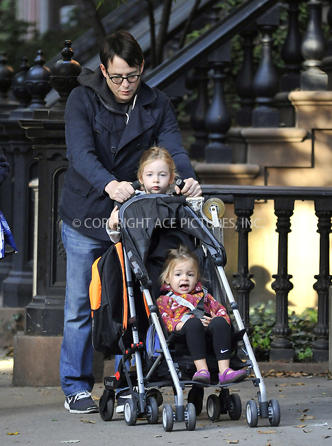 WWW.ACEPIXS.COM....October 17 2012, New York City....Actor Matthew Broderick takes twins Tabitha and Marion to play school on October 17 2012 in New York City....By Line: Curtis Means/ACE Pictures......ACE Pictures, Inc...tel: 646 769 0430..Email: info@acepixs.com..www.acepixs.com