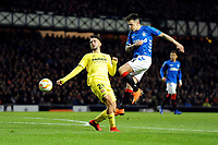Ryan Jack of Rangers has a shot at goal during Rangers vs Villarreal CF, UEFA Europa League Football at Ibrox Stadium on 29th November 2018