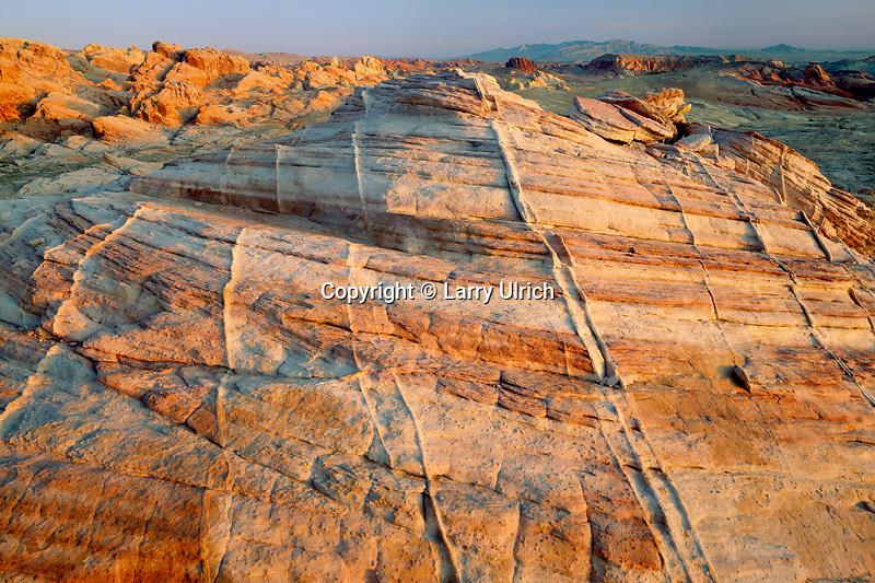Petrified sand dunes near Rainbow Vista<br /> Valley of Fire State Park<br /> Mojave Desert<br /> Nevada