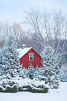 Snow covered farm house, Mt. Laurel, New Jersey