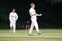 Jon ONeil of Rainham during is out during Bentley CC (Bowling) vs Rainham CC, T Rippon Mid Essex Cricket League Cricket at Coxtie Green Road on 9th June 2018