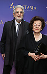 Placido Domindo and Marta Domingo attend Broadway Opening Night performance of 'Anastasia' at the Broadhurst Theatre on April 24, 2017 in New York City.