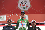 Stepan Kuriyanov (RUS) Gazprom&ndash;Rusvelo retains the Green Jersey at the end of Stage 5 of the 2019 UAE Tour, running 181km form Sharjah to Khor Fakkan, Dubai, United Arab Emirates. 28th February 2019.<br /> Picture: LaPresse/Fabio Ferrari | Cyclefile<br /> <br /> <br /> All photos usage must carry mandatory copyright credit (&copy; Cyclefile | LaPresse/Fabio Ferrari)