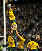 Twickenham, England. Dave Dennis of Australia in action during the QBE international match between England and Australia for the Cook Cup at Twickenham Stadium on November 10, 2012 in Twickenham, England