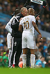 Swansea's care-taker manager Alan Curtis issues orders to Swansea's Andre Ayew - Manchester City vs Swansea - Barclays Premier League - Etihad Stadium - Manchester - 12/12/2015 Pic Philip Oldham/SportImage