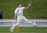 Otago's Nathan Smith bowls on Day One of the Plunket Shield cricket match between Wellington Firebirds and Otago Volts at the Basin Reserve in Wellington, New Zealand on Wednesday, 17 October 2018. Photo: Dave Lintott / lintottphoto.co.nz