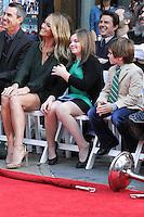 HOLLYWOOD, CA - DECEMBER 03: Christine Taylor, Ella Stiller, Quinlin Stiller attending the Ben Stiller Hand/Footprint Ceremony held at TCL Chinese Theatre on December 3, 2013 in Hollywood, California. (Photo by David Acosta/Celebrity Monitor)