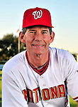 28 February 2010: Washington Nationals Bullpen Coach Jim Lett poses for his Spring Training photo at Space Coast Stadium in Viera, Florida. Mandatory Credit: Ed Wolfstein Photo