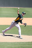 Brandon McCarthy #32 of the Oakland Athletics plays in a minor league spring training game against the San Francisco Giants at Papago Park on March 31, 2011 in Phoenix, Arizona. .Photo by:  Bill Mitchell/Four Seam Images.