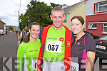 Mary Doody with Sean and Yvonne Lyons from Rockchapel pictured last Sunday in Knocknagoshel for the 5K as part of the annual Harvest Festival.