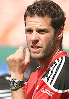 Ben Olsen assistant coach of D.C. United  during an MLS match against the New York Red Bulls on May 1 2010, at RFK Stadium in Washington D.C.