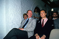 Undated Picture: Franz Beckenbauer Germany right and Jack Charlton of Ireland smile before the game start