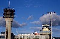 Control tower at Marseille Provence Airport, Provence, France.