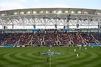 Chester, PA - Sunday December 10, 2017: Stanford University, Indiana University Stanford University defeated Indiana University 1-0 in double overtime during the NCAA 2017 Men's College Cup championship match at Talen Energy Stadium.