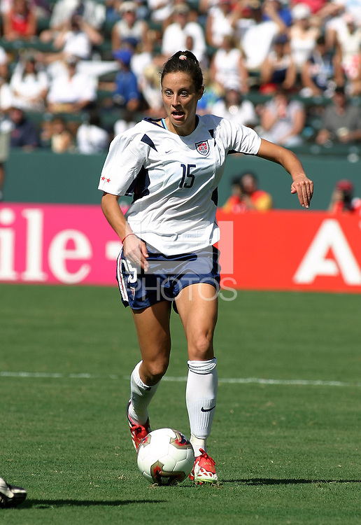 Kate Sobrero, USA vs. Canada at the Third Place Match of the FIFA Women's World Cup USA 2003. USA 3, Canada, 1. (October 11, 2003). .