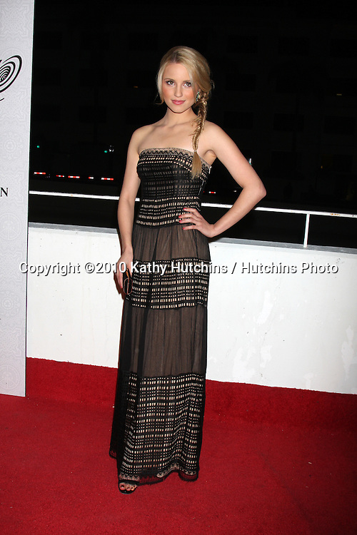Dianna Agron.arriving at the 3rd Annual Art of Elysium Gala.Rooftop of Parking Garage across from Beverly Hilton Hotel.Beverly Hills, CA.January 16, 2010.©2010 Kathy Hutchins / Hutchins Photo....