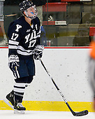 Andrew Miller (Yale - 17) - The Yale University Bulldogs defeated the Harvard University Crimson 5-1 on Saturday, November 3, 2012, at Bright Hockey Center in Boston, Massachusetts.