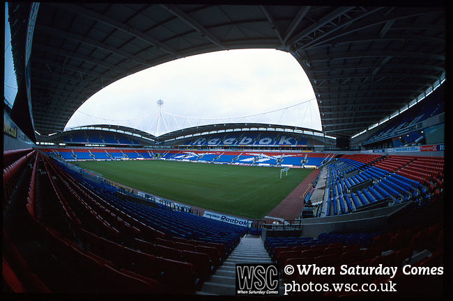 Reebok Stadium, home of Bolton Wanderers FC. Renamed the Macron Stadium in 2014. Photo by Tony Davis