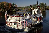riverboat, paddle-boat, tour boat, Georgia, GA, Atlanta, The Scarlet O'Hara side-wheeler Riverboat Cruise takes people around the lake in the fall at Georgia's Stone Mountain Park.