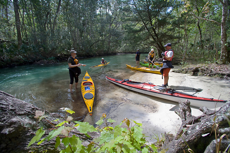 Weeki Wachee River, Florida, Gulf Coast, Gulf of Mexico, sea kayakers,