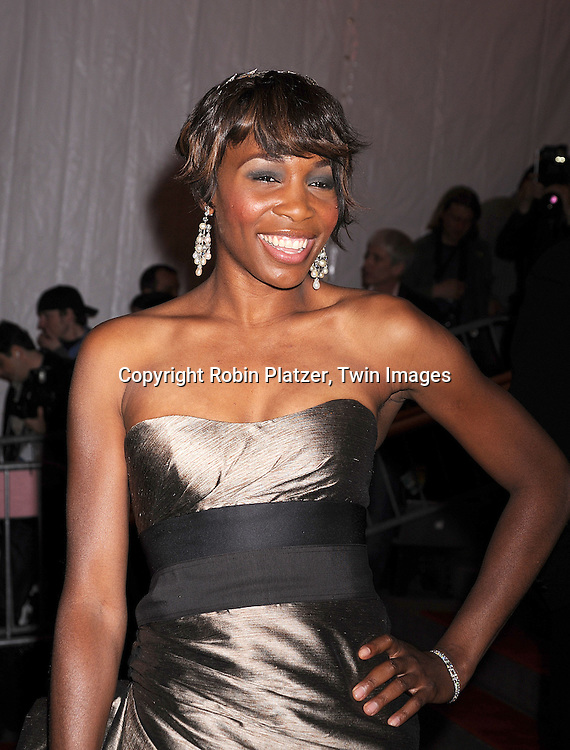 "Venus Williams in Carolina Herrera dress.arriving at The Costume Institute Gala of The Metropolitan Museum of Art on May 5, 2008. The costume exhibit was .""Superheroies: Fashion and Fantasy...Robin Platzer, Twin Images"