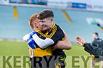 Jordan Kiely and Johnny Buckley Dr. Crokes players and supporters celebrate defeating Corofin in the Semi Final of the Senior Football Club Championship at the Gaelic Grounds, Limerick on Saturday.