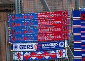 9th September 2017, Ibrox Park, Glasgow, Scotland; Scottish Premier League football, Rangers versus Dundee; Scarves on sale outside Ibrox, home of Rangers