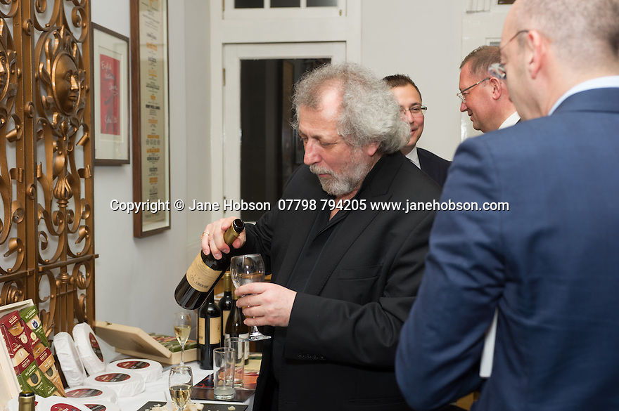 London, UK. 15.04.2014. Eifman Ballet after-party on press night for the opening of Rodin, Sky Bar, London Coliseum. Pictured: Boris Eifman. Photograph © Jane Hobson.