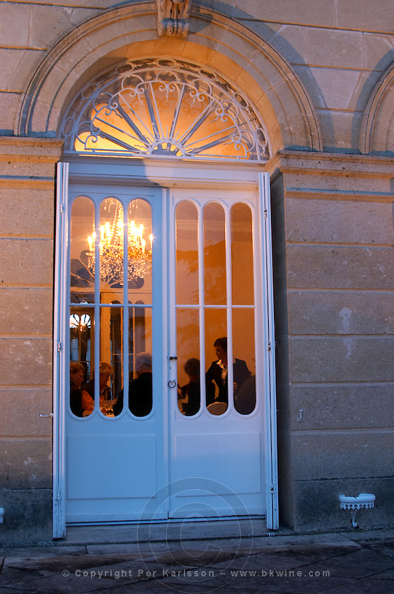 with guests chateau belgrave haut medoc bordeaux france