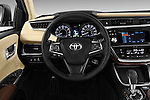 Steering wheel view of a 2013 Toyota Avalon XLE