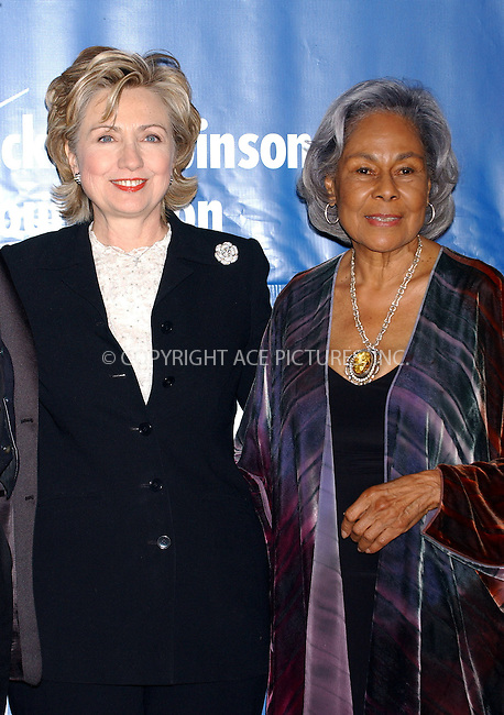 WWW.ACEPIXS.COM . . . . . ....NEW YORK, MARCH 7, 2006....Senator Hillary Rodham Clinton and Rachel Robinson at the Jackie Robinson Foundation Annual Awards Dinner.....Please byline: KRISTIN CALLAHAN - ACEPIXS.COM.. . . . . . ..Ace Pictures, Inc:  ..Philip Vaughan (212) 243-8787 or (646) 679 0430..e-mail: info@acepixs.com..web: http://www.acepixs.com