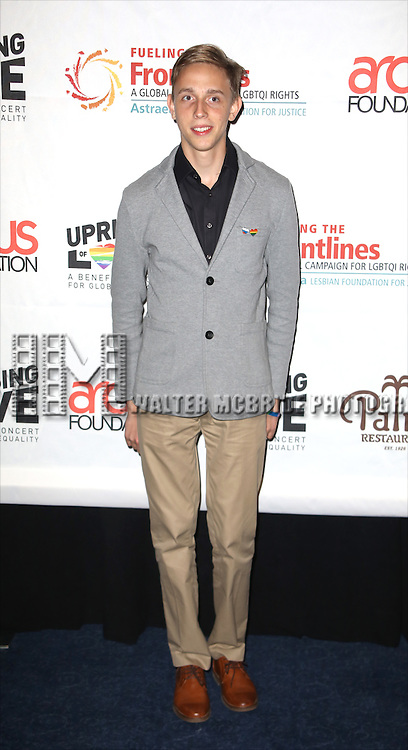 Vladislav Slavskiy backstage at 'Uprising Of Love: A Benefit Concert For Global Equality' at the Gershwin Theatre on September 15, 2014 in New York City.