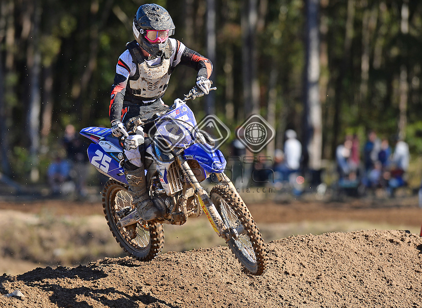 Jack O'Callaghan / Yamaha<br /> MX Nationals / Round 6 / MXD<br /> Australian Motocross Championships<br /> Raymond Terrace NSW<br /> Sunday 5 July 2015<br /> &copy; Sport the library / Jeff Crow