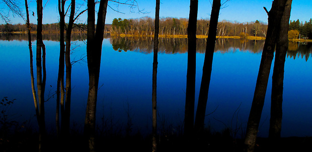 A placid November view of Serpent Lake, Miinesota