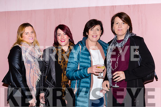 Eileen O'Connor, Katie Murphy, Gillian O'Sullivan and Hannah Crowley at the Friends of Chernobyl fashion show in Rathmore on Thursday night