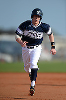 UW-Stout Blue Devils Jack Schneider (10) during the first game of a doubleheader against the Edgewood Eagles on March 16, 2015 at Lee County Player Development Complex in Fort Myers, Florida.  UW-Stout defeated Edgewood 6-1.  (Mike Janes/Four Seam Images)