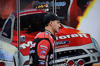 May 3, 2013; Commerce, GA, USA: NHRA funny car driver Bob Tasca III during qualifying for the Southern Nationals at Atlanta Dragway. Mandatory Credit: Mark J. Rebilas-