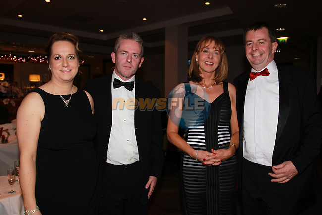 Therese and Eoin Quinn and Jenny Coyle and Paddy Callaghan.at the Drogheda and District chamber of Commerce business awards..Picture: Fran Caffrey/www.newsfile.ie.