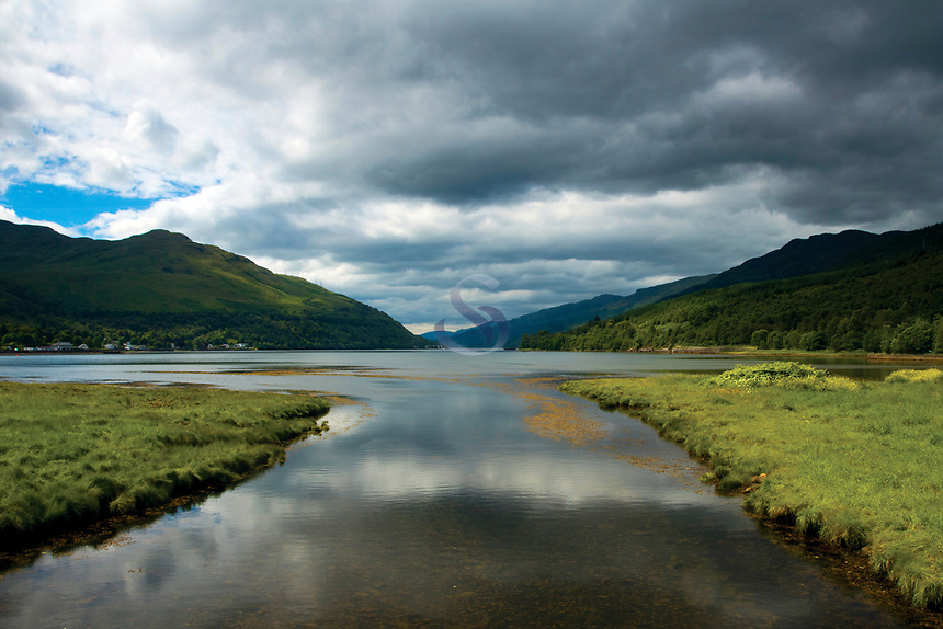 Looking along Loch Long from The Cowal Way, Arrochar, Loch Lomond & The Trossachs National Park, Argyll & Bute