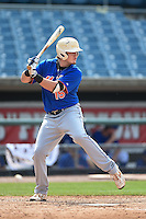 William Bozeman (15) of Pensacola Catholic High School in Pensacola, Florida playing for the New York Mets scout team during the East Coast Pro Showcase on August 1, 2014 at NBT Bank Stadium in Syracuse, New York.  (Mike Janes/Four Seam Images)