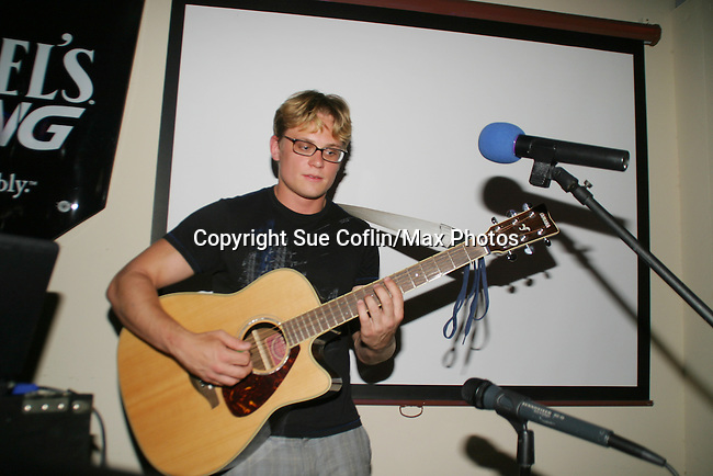 Billy Magnussen performs - 11th Annual SoapFest - Celebrity Bartending Party at Almost Famous Mel's to benefit Marco Island YMCA, theatre program & Art League of Marco Island on Marco Island, Florida on May 2, 2009. (Photo by Sue Coflin/Max Photos)