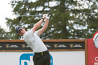 Rory Mcilroy (NIR) in action on the 18th hole during third round at the Omega European Masters, Golf Club Crans-sur-Sierre, Crans-Montana, Valais, Switzerland. 31/08/19.<br /> Picture Stefano DiMaria / Golffile.ie<br /> <br /> All photo usage must carry mandatory copyright credit (© Golffile | Stefano DiMaria)