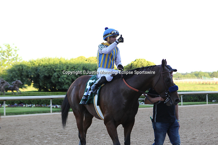 May 2, 2020: Jockey Joel Rosario giving a thumbs up aboard Nadal after winning the 2nd division of the Arkansas Derby at Oaklawn Racing Casino Resort in Hot Springs, Arkansas on May 2, 2020. Justin Manning/Eclipse Sportswire/CSM