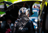 Jun 15, 2018; Bristol, TN, USA; NHRA funny car driver Jonnie Lindberg during qualifying for the Thunder Valley Nationals at Bristol Dragway. Mandatory Credit: Mark J. Rebilas-USA TODAY Sports
