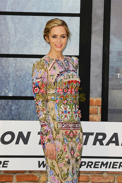 LONDON, ENGLAND - SEPTEMBER 20: Emily Blunt attending 'The Girl On The Train' World Premiere at Odeon Cinema, Leicester Square on September 20, 2016 in London, England.<br /> CAP/MAR<br /> &copy;MAR/Capital Pictures