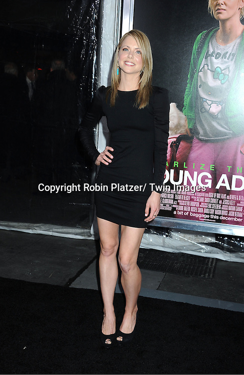 "actress Collette Wolfe attends The World Premiere of "" Young Adult"" on ..December 8, 2011 at The Ziegfeld Theatre in New York City."
