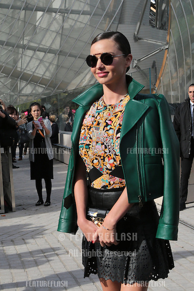 Miranda Kerr attend Louis Vuitton Show Front Row - Paris Fashion Week  2016.<br /> October 7, 2015 Paris, France<br /> Picture: Kristina Afanasyeva / Featureflash